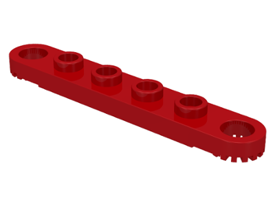 LEGO 4262 Red Technic, Plate 1 x 6 with Toothed Ends