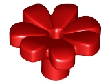LEGO 32606 Red Friends Accessories Flower with 7 Thick Petals and Pin