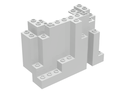 LEGO 6082  White Rock Panel 4 x 10 x 6 Rectangular