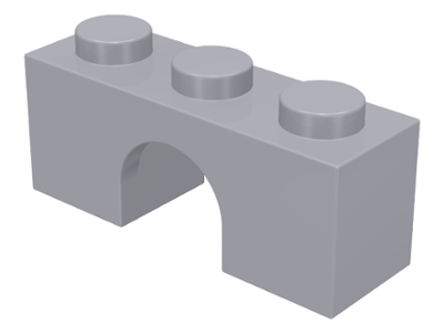 LEGO 4490 Light Bluish Gray Brick, Arch 1 x 3