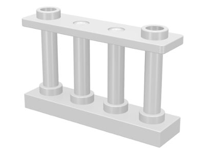 LEGO 30055 White Fence 1 x 4 x 2 Spindled with 2 Studs