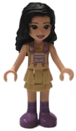 LEGO frnd376 Friends Emma, Tan Dress with Straps, Medium Lavender Boots