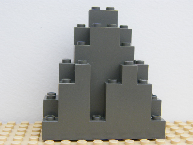 LEGO 6083 Dark Gray Rock Panel 3 x 8 x 7 Triangular