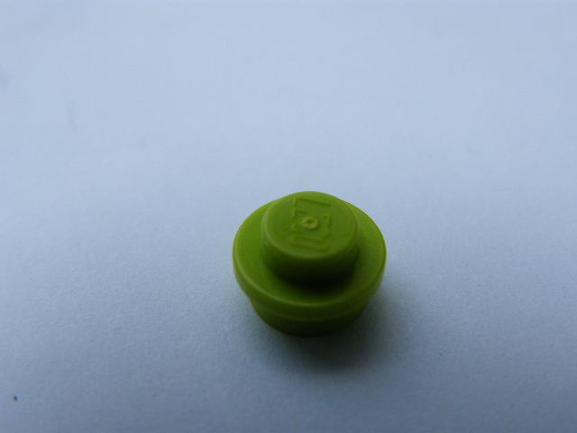LEGO 4073 - Lime Plate, Round 1 x 1 Straight Side
