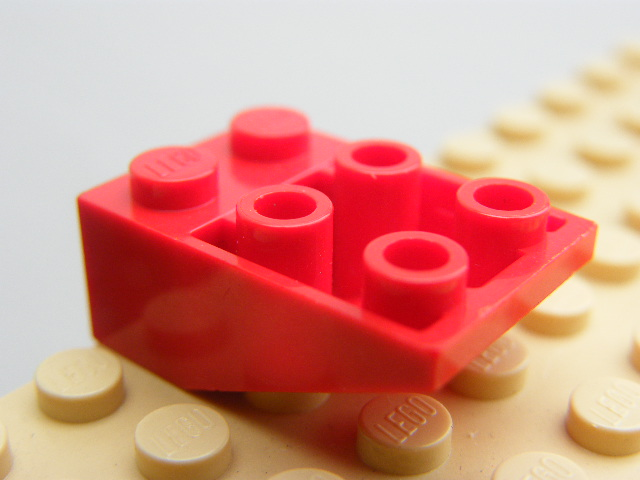 LEGO 3747 Red Slope, Inverted 33 3 x 2