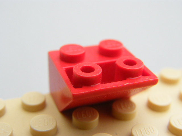 LEGO 3660 Red Slope, Inverted 45 2 x 2