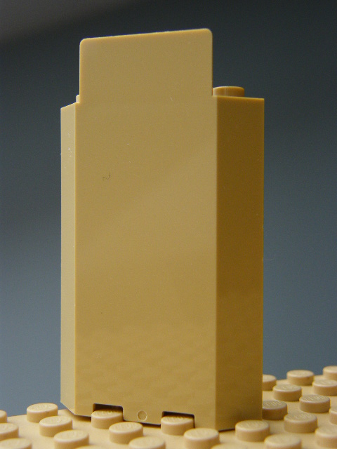 LEGO 87421 Tan Panel 3 x 3 x 6 Corner Wall without Bottom Indentations