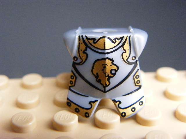 LEGO 2587pb23 Minifigure, Armor Breastplate with Leg Protection, Kingdoms Lion Head Pattern