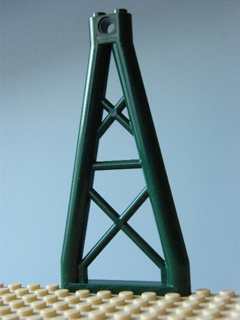 LEGO 64449 - Dark Green Support 1 x 6 x 10 Girder Triangular