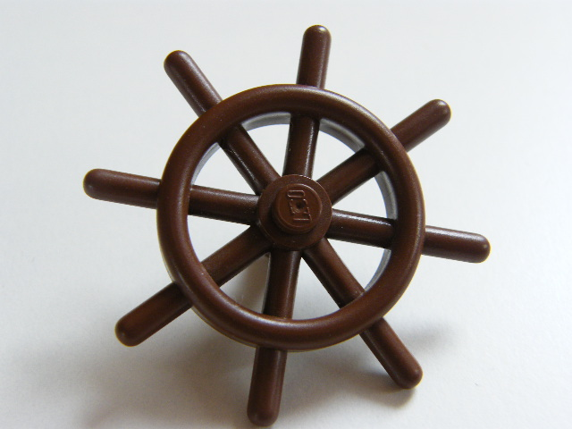 Reddish Brown Boat, Ship's Wheel with Slotted PinLEGO 4790b