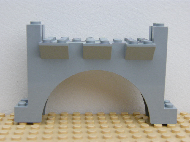 LEGO 30272 Light Bluish Gray Brick, Arch 2 x 12 x 6 with Grooves