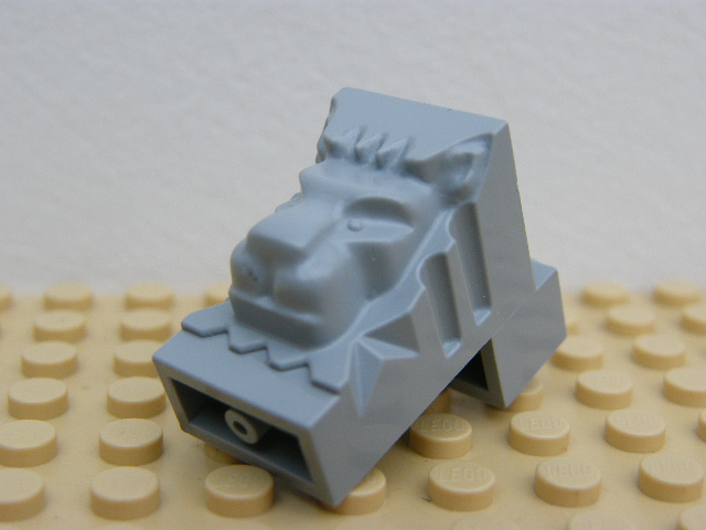 LEGO 30274 Light Bluish Gray Brick, Modified 2 x 3 x 3 with Cutout and Lion Head