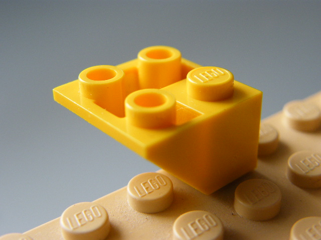 LEGO 3676 Yellow Slope, Inverted 45 2 x 2 Double Convex