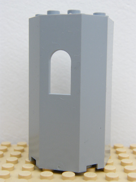 LEGO 30246 - Light Bluish Gray Panel 3 x 4 x 6 Turret Wall with Window