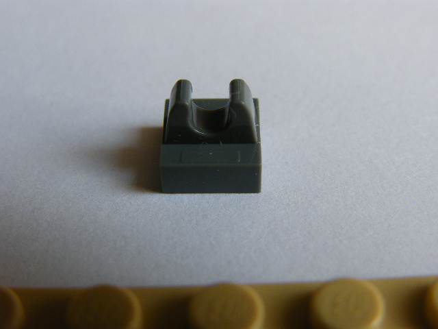 LEGO 2555 - Dark Bluish Gray Tile, Modified 1 x 1 with Clip
