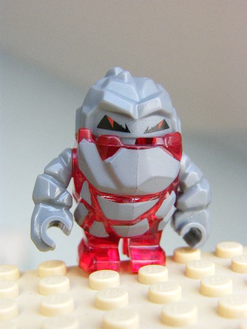 LEGO pm003 - Rock Monster - Meltrox (Trans-Red)