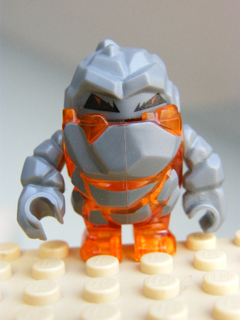 LEGO pm002 - Rock Monster - Firox (Trans-Orange)