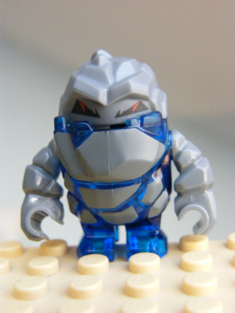 LEGO pm004 - Rock Monster - Glaciator (Trans-Dark Blue)