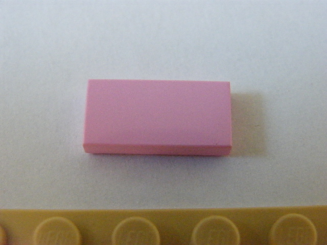 LEGO 3069Bb - Pink Tile 1 x 2 with Groove