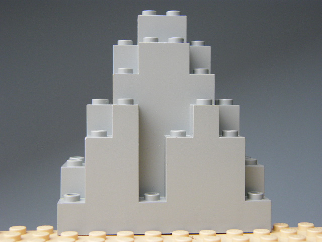 LEGO 6083 Light Bluish Gray Rock Panel 3 x 8 x 7 Triangular
