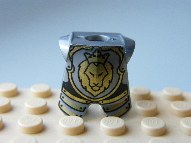 LEGO  2587pb32 Minifigure, Armor Breastplate with Leg Protection, Lion Head Pattern