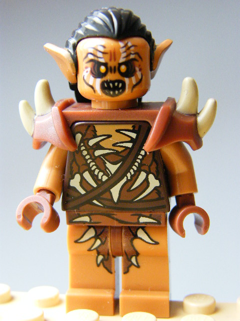 LEGO lor077 - Gundabad Orc - Hair and Shoulder Spikes