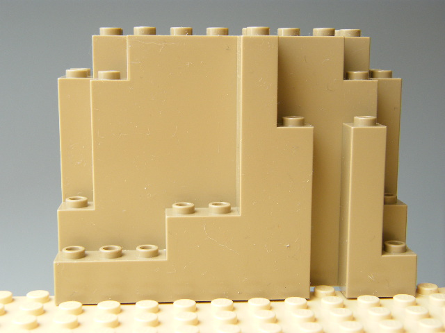 LEGO 6082 Dark Tan Rock Panel 4 x 10 x 6 Rectangular