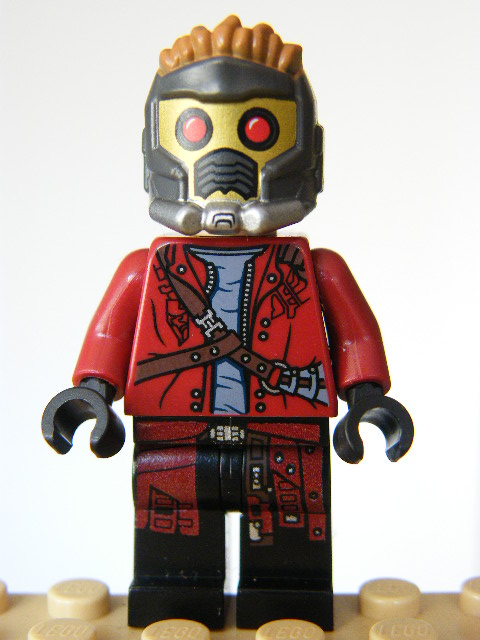 LEGO Super Heroes 127- Star-Lord - Mask, Open Jacket