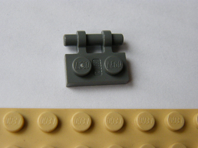 LEGO 2540 - Dark Bluish Gray Plate, Modified 1 x 2 with Handle on Side