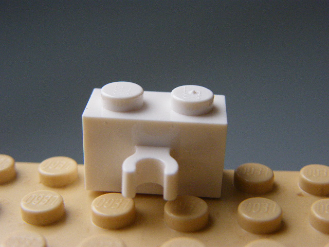 LEGO 30237 White Brick, Modified 1 x 2 with Vertical Clip
