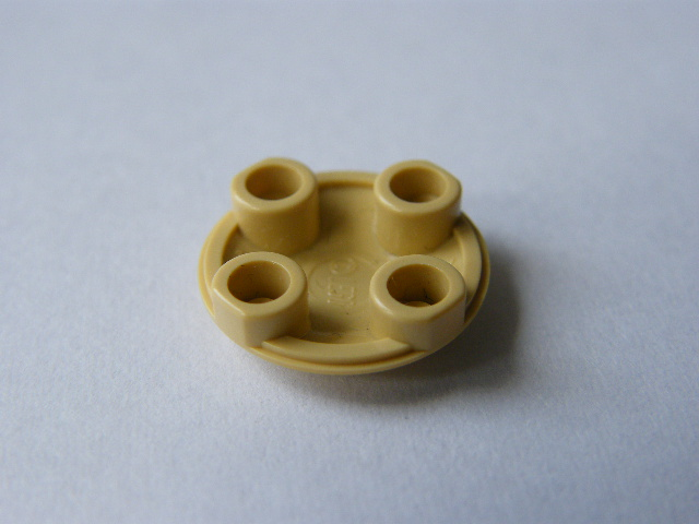 LEGO 2654 - Tan Plate, Round 2 x 2 with Rounded Bottom