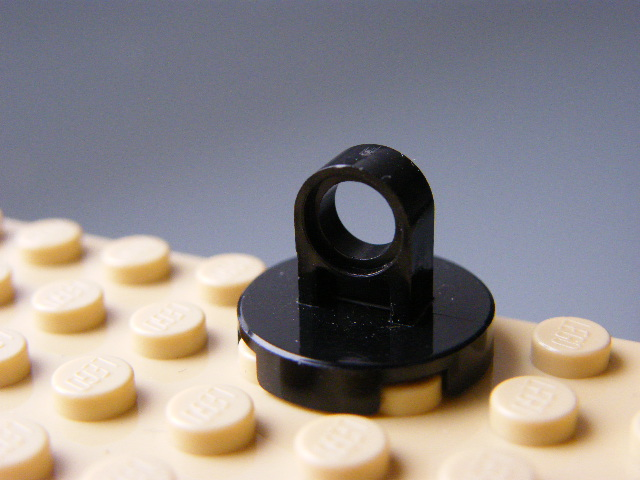 LEGO 2376 - Black Tile, Round 2 x 2 with Lifting Ring Thick