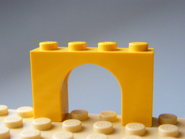 LEGO 6182 - Yellow Brick, Arch 1 x 4 x 2