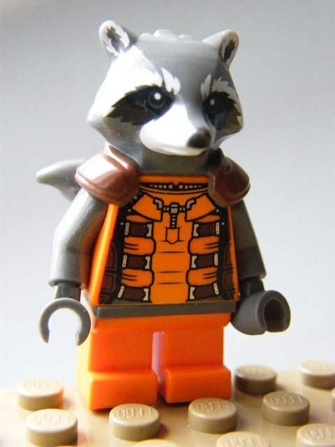 LEGO SUPER HEROES 122 - Rocket Raccoon - Orange Outfit