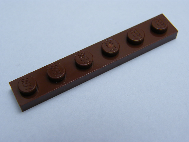 LEGO 3666 Reddish Brown Plate 1 x 6