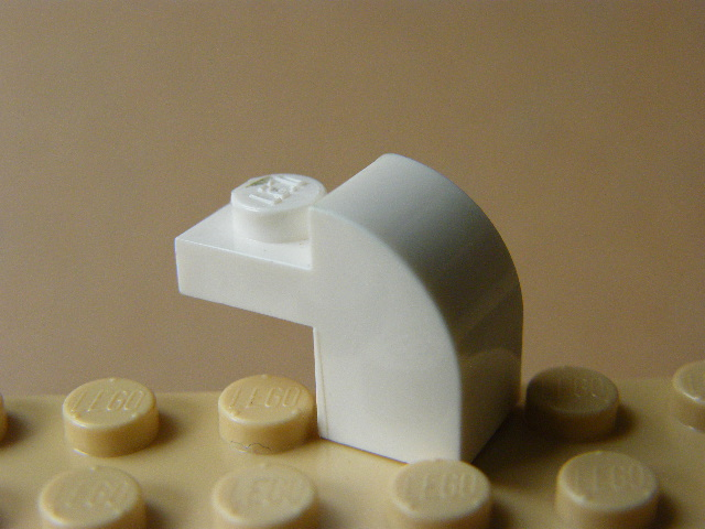 LEGO 6091 White Brick, Modified 1 x 2 x 1 1/3 with Curved Top