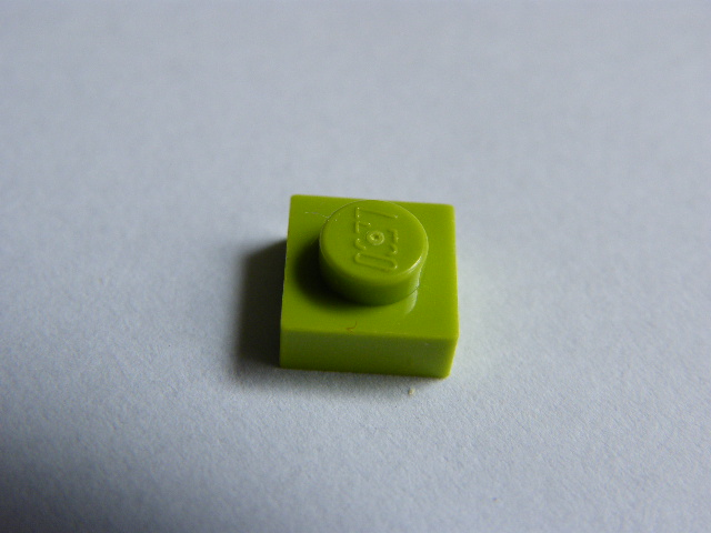 LEGO 3024 Lime Plate 1 x 1