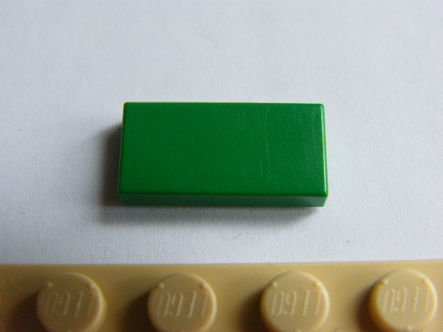 LEGO 3069 Green Tile 1 x 2 with Groove