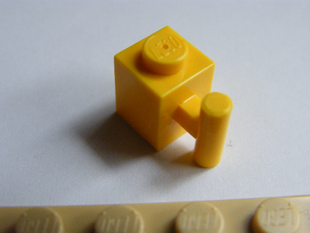 LEGO 2921 - Brick, Modified 1 x 1 with Handle