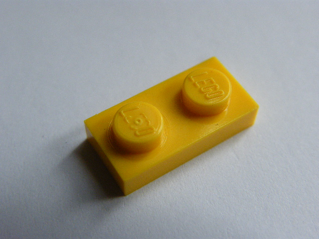 LEGO 3023 Yellow Plate 1 x 2