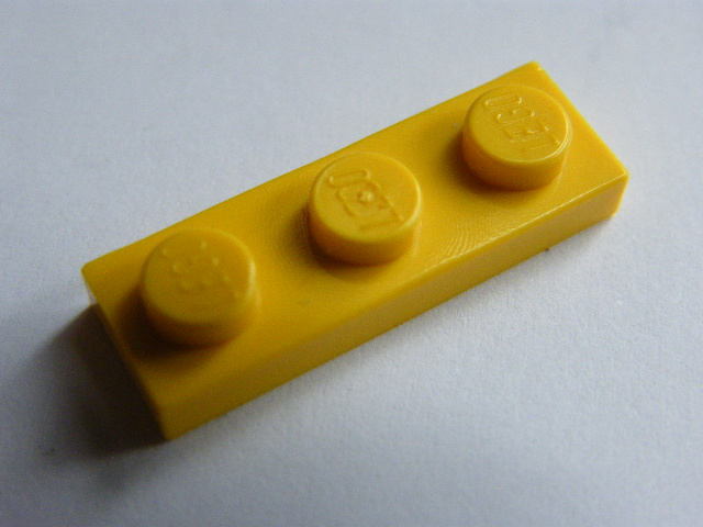 LEGO 3623 Yellow Plate 1 x 3