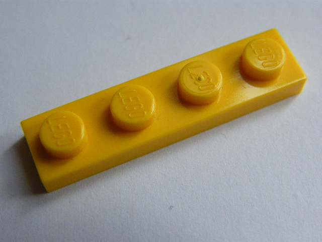 LEGO 3710 - Yellow Plate 1 x 4