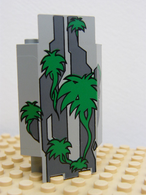 LEGO 2345pb01 Panel 3 x 3 x 6 Corner Wall with Green Vines Pattern