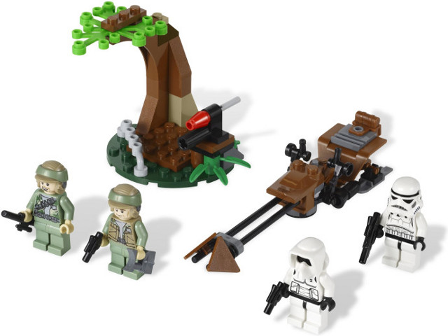 LEGO 9489 - LegoEndor Rebel Trooper & Imperial Trooper Battle Pack