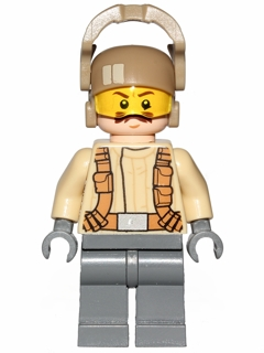 LEGO STAR WARS 696 - Resistance Trooper - Tan Jacket, Moustache (75131)