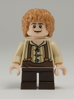 LEGO Hobbit and Lord of the Rings lor029 - Bilbo Baggins - Suspenders
