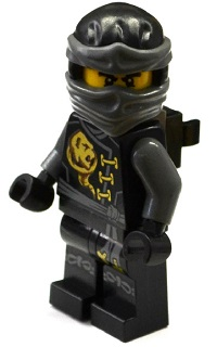 LEGO NINJAGO 199a - Cole - Skybound with Neck Bracket and Modified Tile (70599)