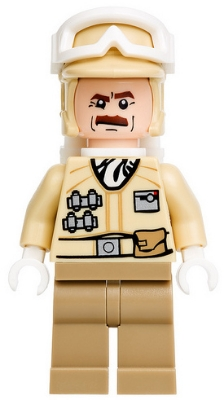 LEGO STAR WARS 425 - Hoth Rebel Trooper, Moustache (9509)