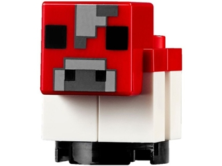 LEGO minecow04 - Red Minecraft Cow, Mooshroom, Baby