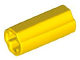LEGO 6538c Yellow Technic, Axle Connector 2L (Smooth with x Hole + Orientation)